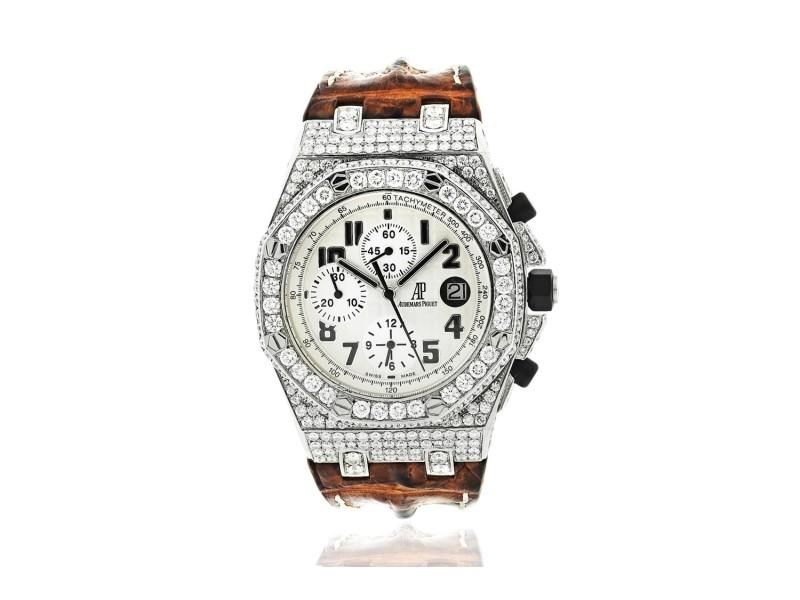 Audemars Piguet 26020ST.OO.D091CR.01.A Royal Oak Offshore Custom Diamond Set Bezel and Case