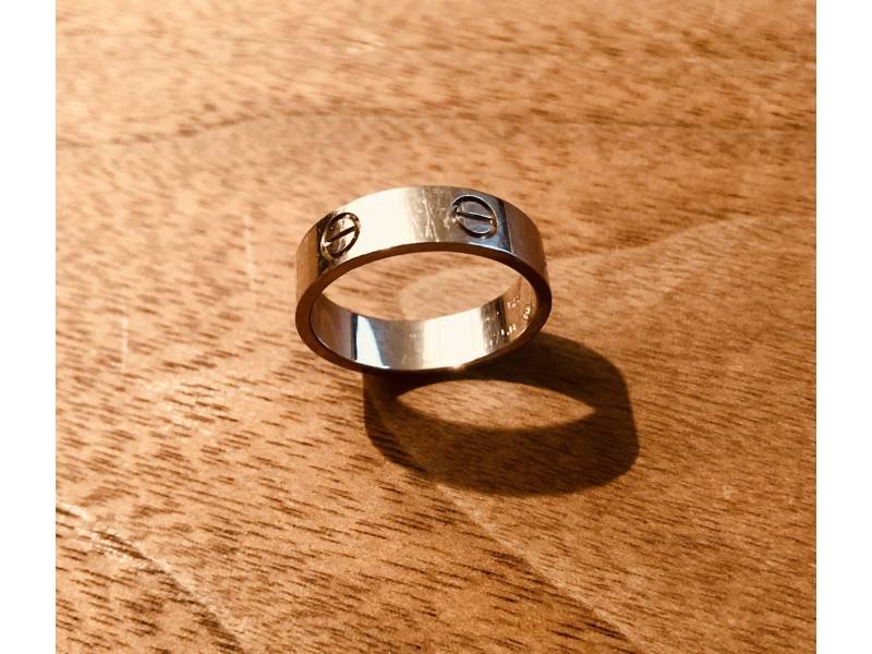 Cartier Love Ring 18k White Gold Size: 8.5