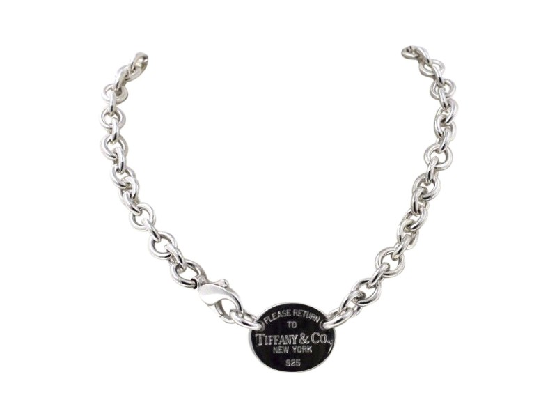 "Tiffany & Co. 925 Sterling Silver ""Return To Tiffany"" Round Tag Necklace"