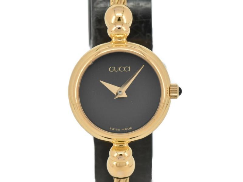 GUCCI 2700.2.L black Dial Quartz Ladies Bangle Watch