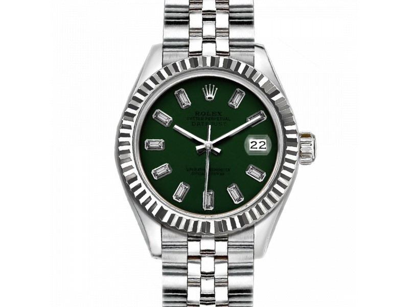 Rolex Datejust Stainless Steel with Dark Green Dial 36mm Mens Watch