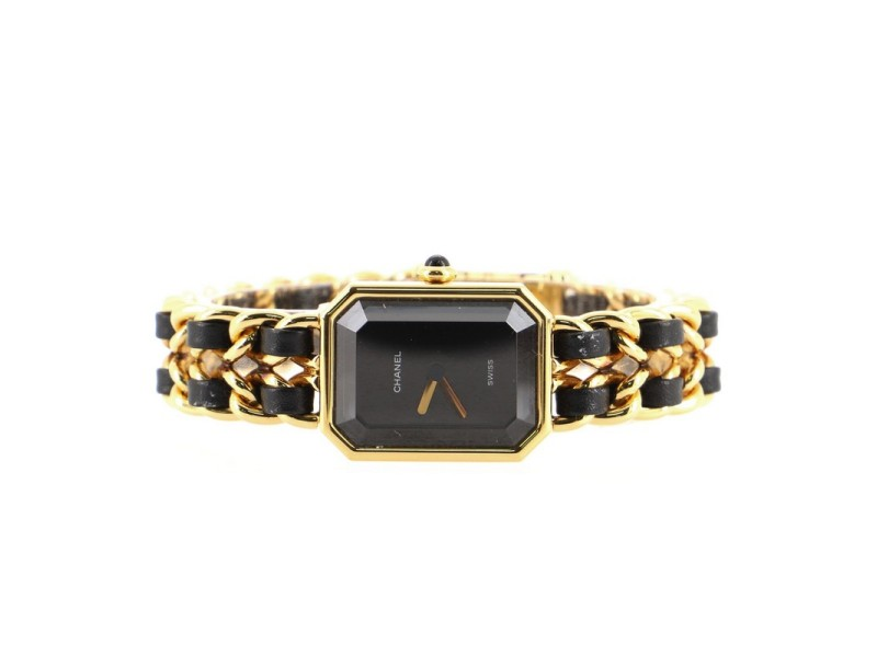 Chanel Premiere Rock Quartz Watch Plated Metal and Leather 20