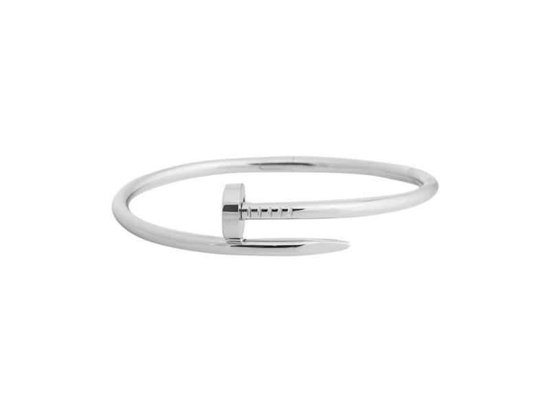 Cartier Juste Un Clou Bracelet White Gold Size 17