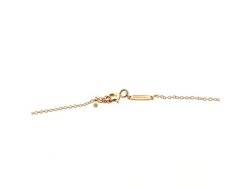 Tiffany & Co. T Smile Pendant Necklace 18K Rose Gold Small