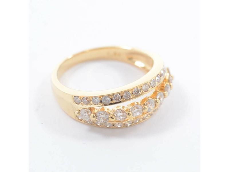 18K Yellow Gold Diamond Ring