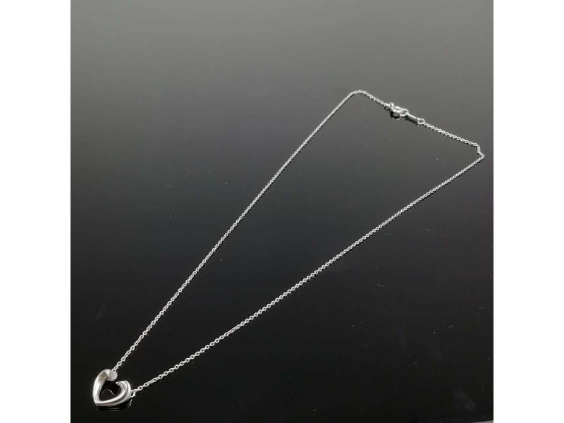 Tiffany & Co. silver Tenderness mini open heart necklace