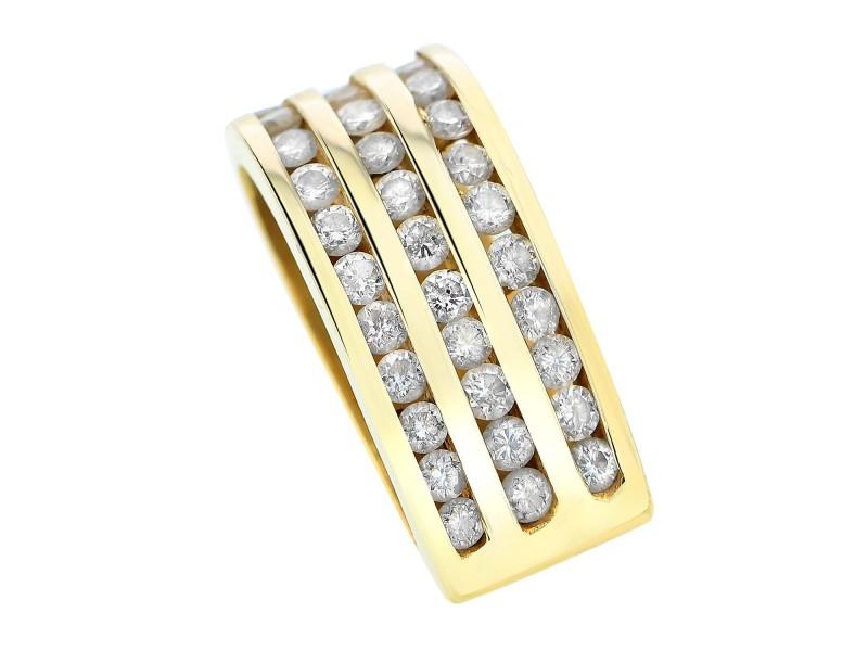 14K Yellow Gold Diamond Bale