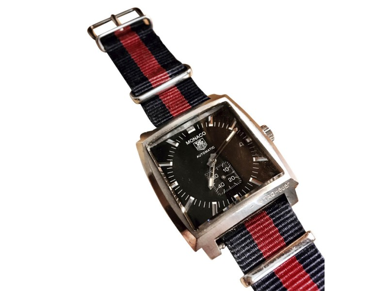 Tag Heuer Monaco Stainless Steel & Fabric 37.50mm Watch