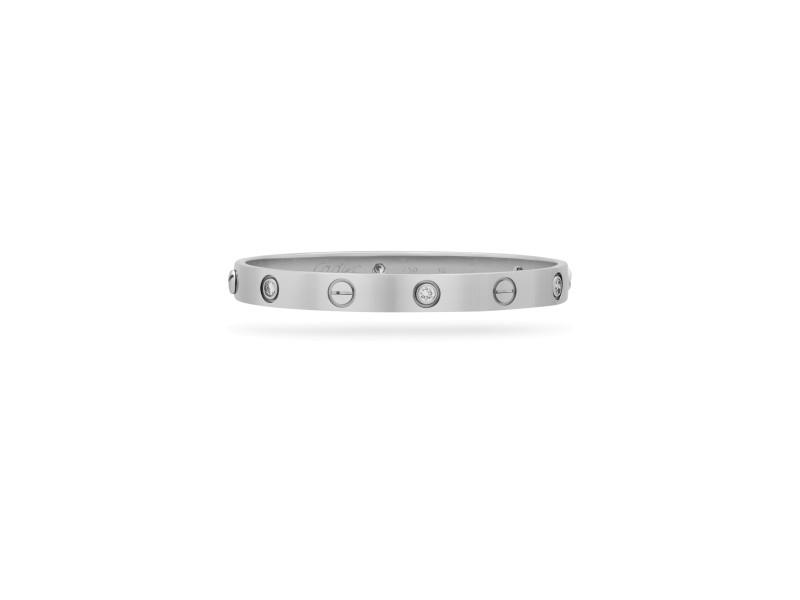 Cartier Love Bracelet 18K White Gold 0.54ct Diamond