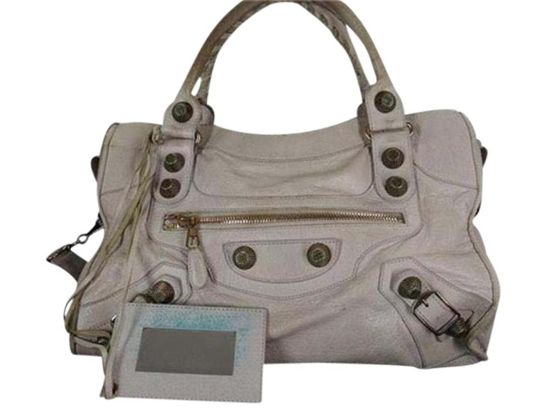 Balenciaga Shoulder Bag City Two-way 37bala624 204086 Brown Leather Satchel