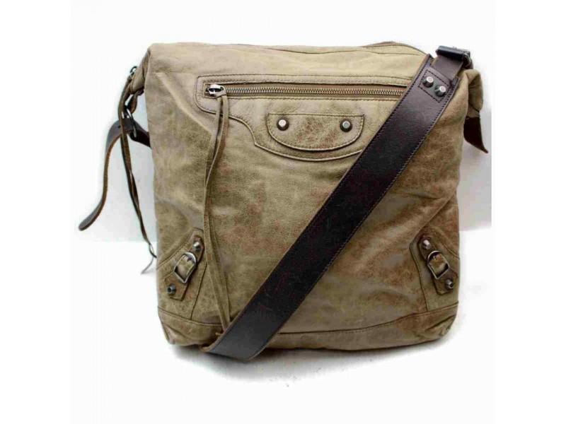 Balenciaga Messenger The Mens Day 860026 Brown Leather Cross Body Bag