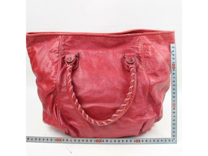 Balenciaga Sunday Tote 870903 Red Leather Shoulder Bag