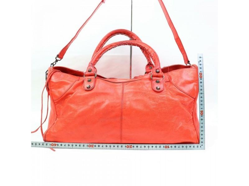 Balenciaga The City 2way 870134 Red Leather Shoulder Bag