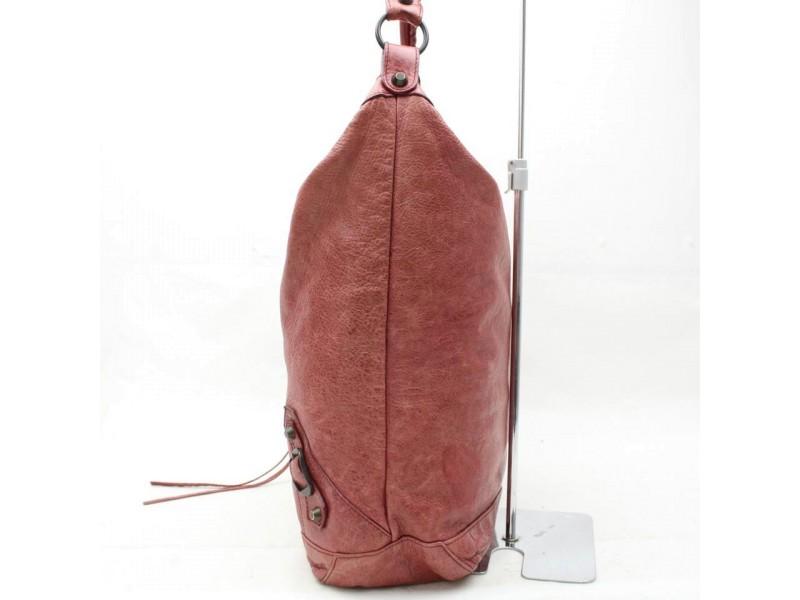 Balenciaga Hobo The Day 865766 Light Red Leather Shoulder Bag