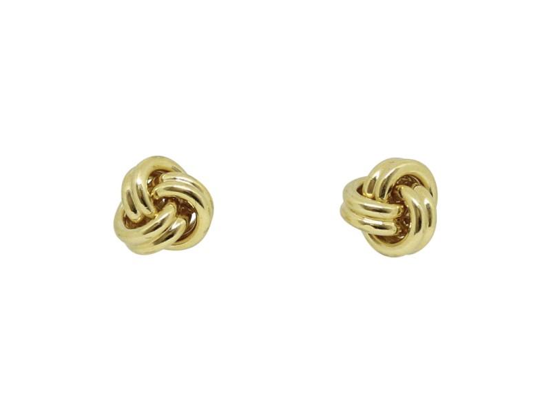 Tiffany & Co. Love 18K Yellow Gold Knot Earrings
