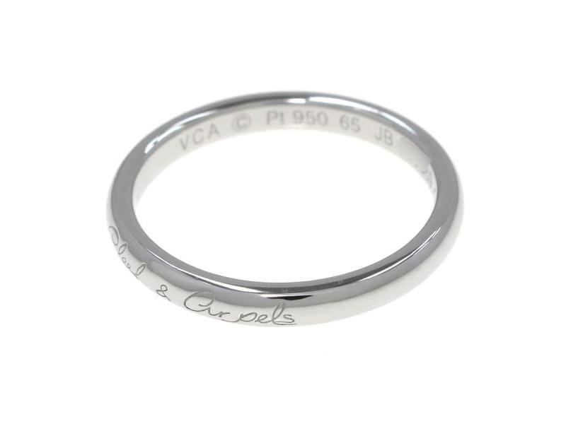 Van Cleef & Arpels platinum Amphini Senior Tulle Marriage Ring