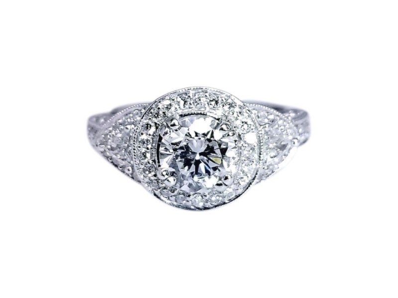 18K White Gold with 1.92ctw. Diamond Gabrielle Inspired Ring Size 6.5