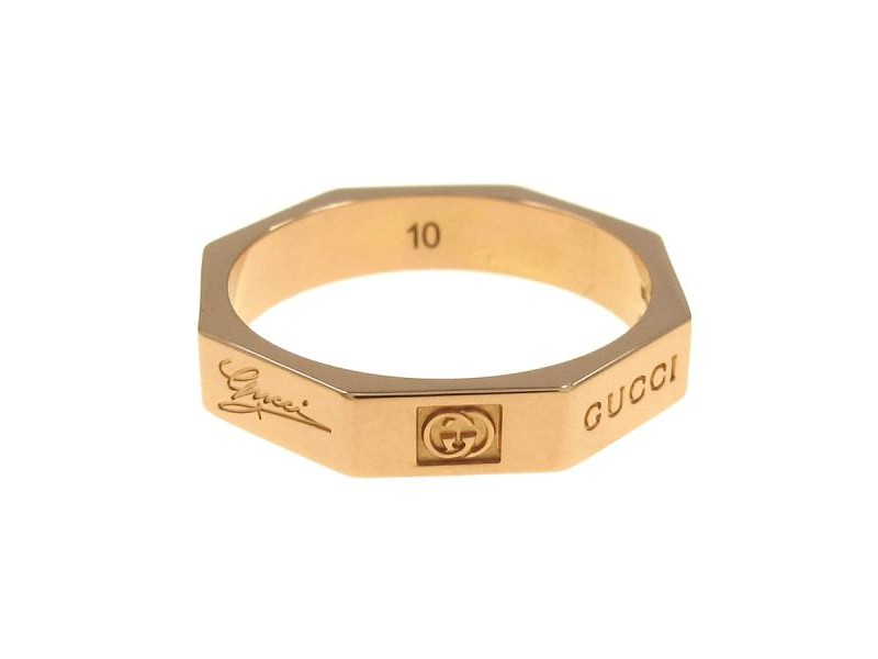 Gucci 18K Yellow Gold Ring Size 10