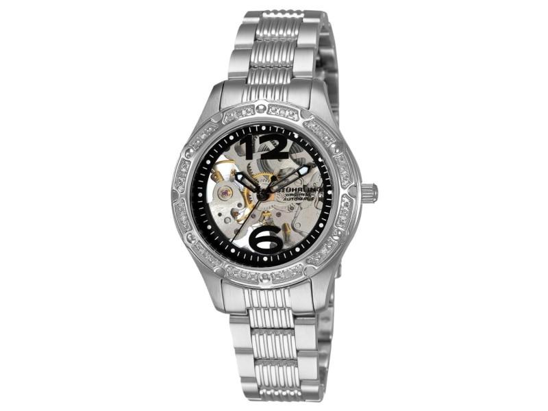 Stuhrling Executive 335.121110 Stainless Steel & Diamond 34mm Watch