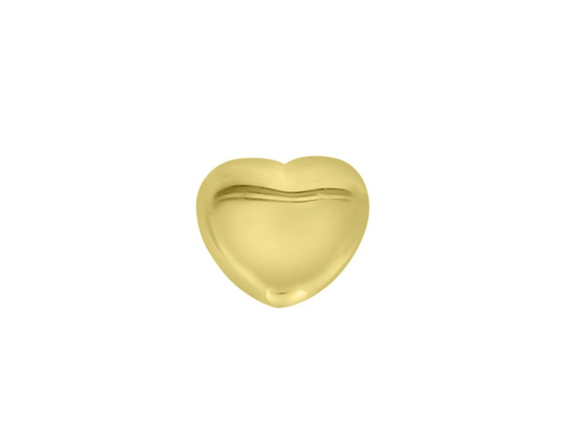 14k Yellow Gold Heart Single Earring