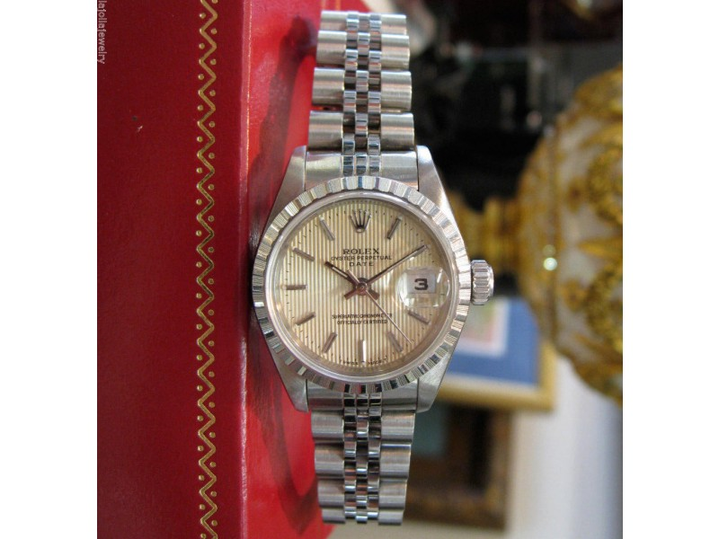 Rolex Oyster Perpetual Date 69190 26mm Womens Watch