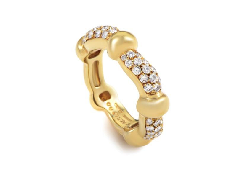 Boucheron 18K Yellow Gold Diamond Band Ring