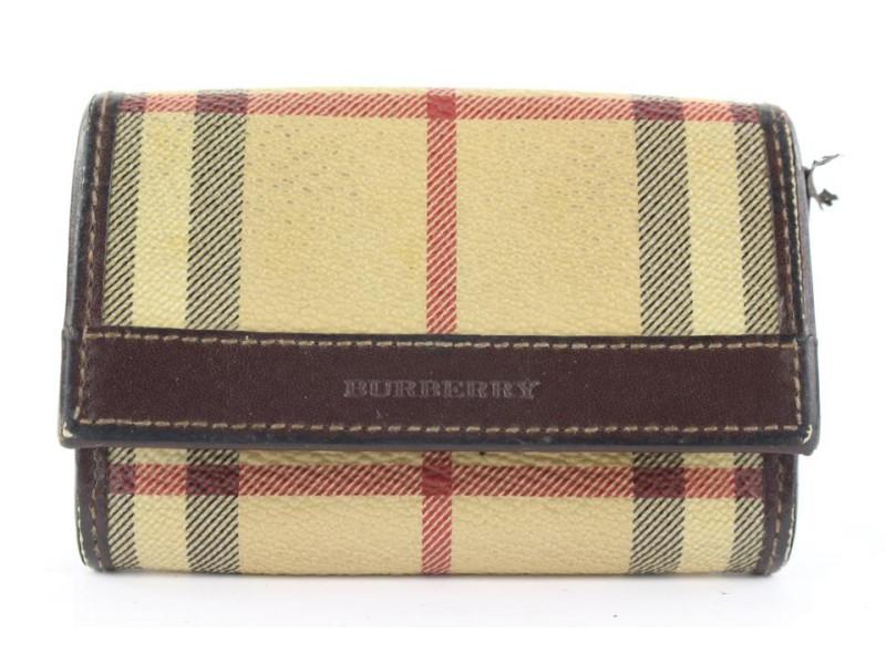 Burberry Nova Check Card Holder Wallet Case 166bur25