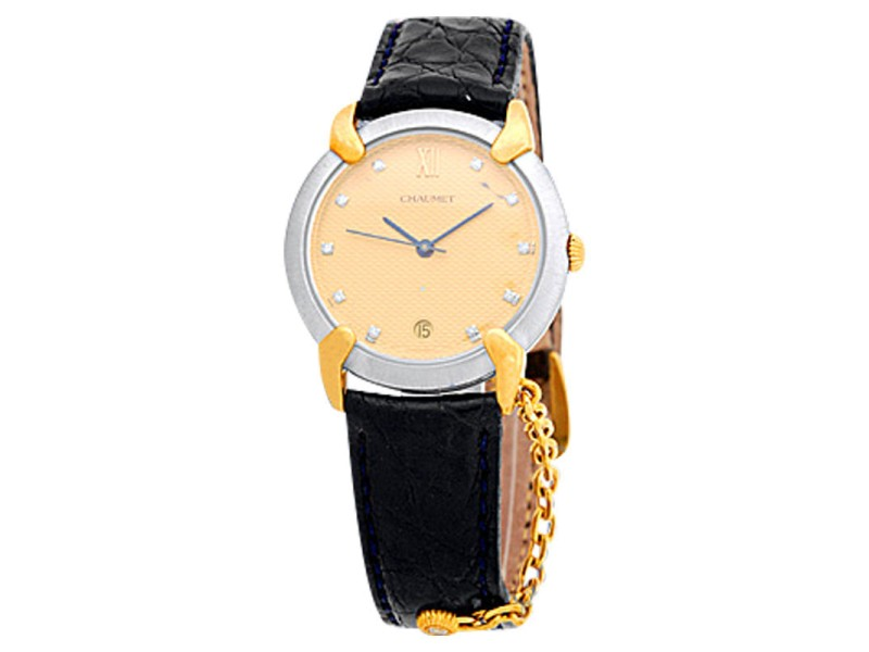 Chaumet Stainless Steel & 18K Yellow Gold Mens Watch