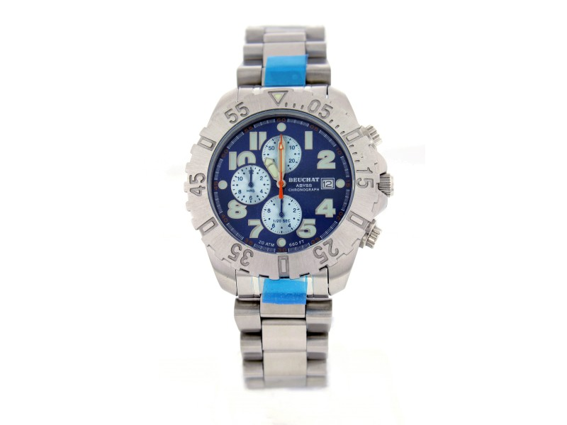 Beuchat Abyss BEU0145 Stainless Steel Chronograph 40mm Mens Watch