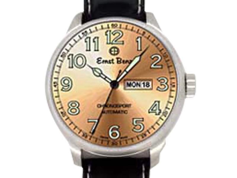 """Ernst Benz """"Chronosport"""" Stainless Steel Mens Watch"""