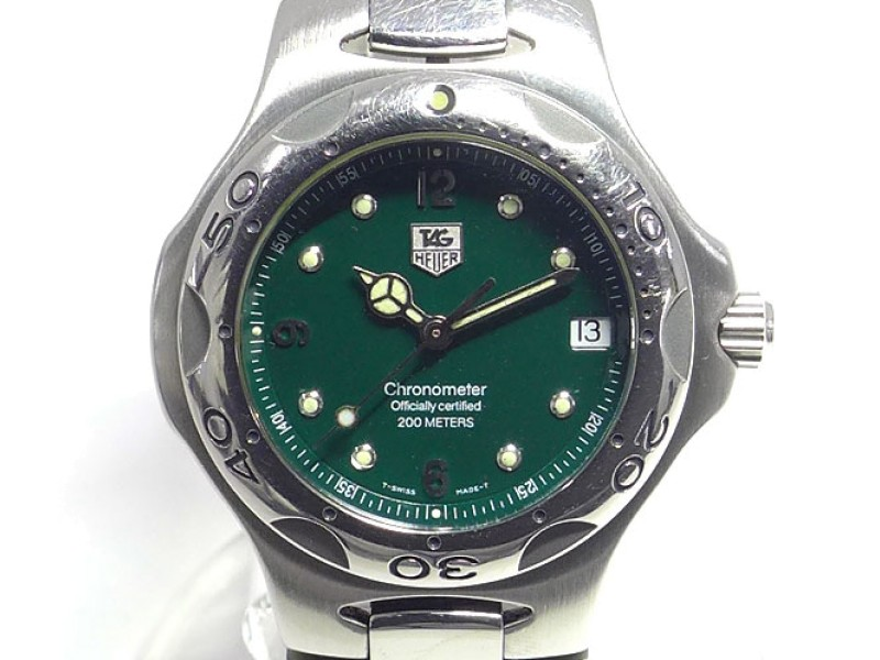 Tag Heuer Kirium WL5112 Stainless Steel Green Dial Automatic 37mm Men's Watch