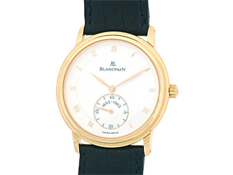 "BlancPain ""Jubilee"" Thin 18K Rose Gold Mens Watch"