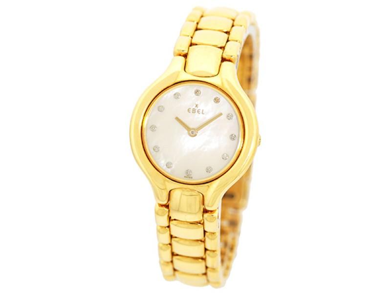 Ebel Diamond 18K Yellow Gold Diamond, Mother Of Pearl Bracelet