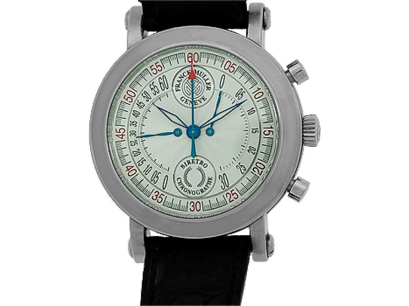 Franck Muller BiRetro Chronograph Stainless Steel Mens Watch