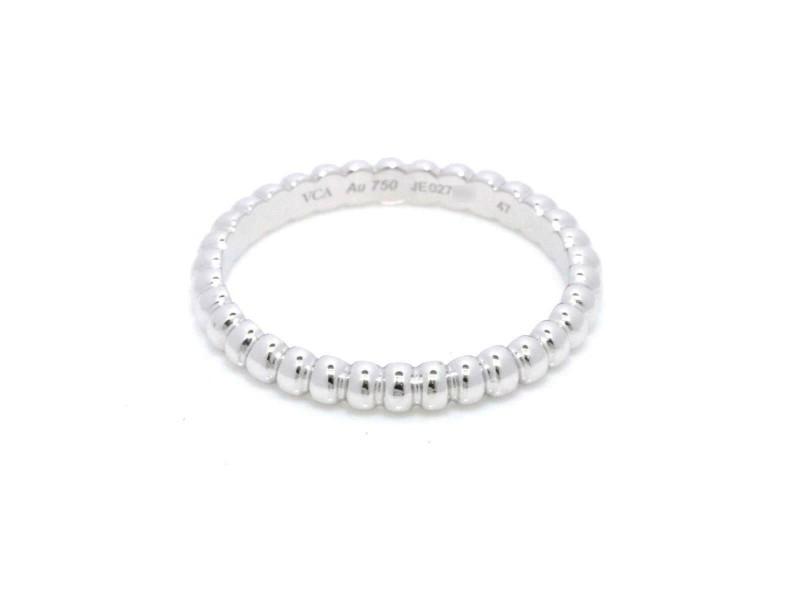 Van Cleef Arpels 18K white gold Perlee Small Ring