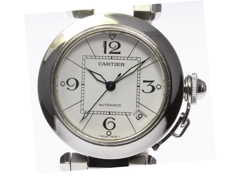 Cartier Pasha C W31074M7 Stainless Steel Automatic 35 mm Mens Watch