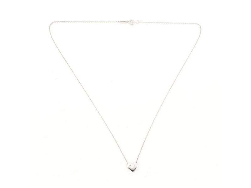 Tiffany & Co. Heart Dot Pendant Necklace Platinum with Diamonds
