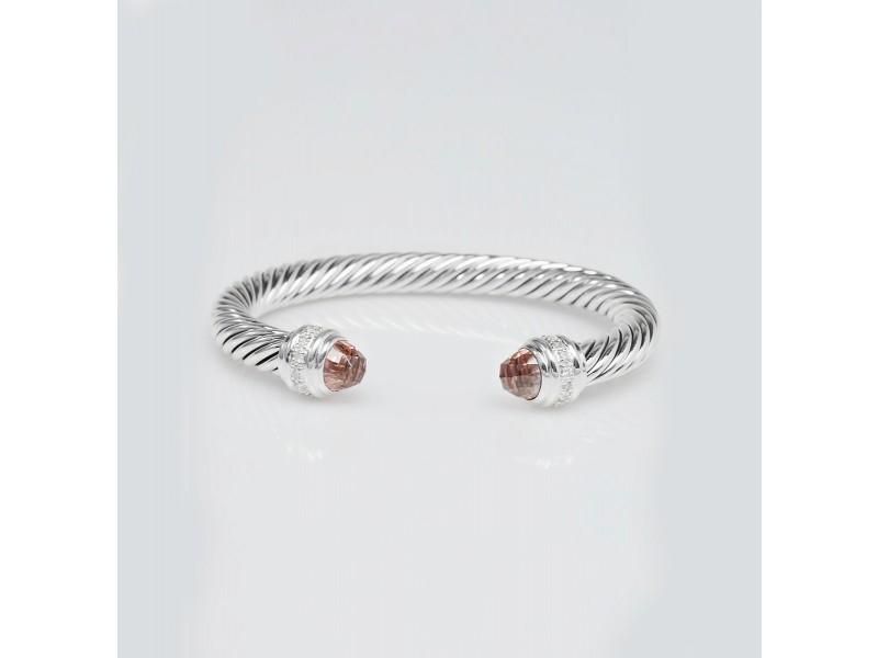 David Yurman Cable Classics Bracelet with Morganite and Diamonds