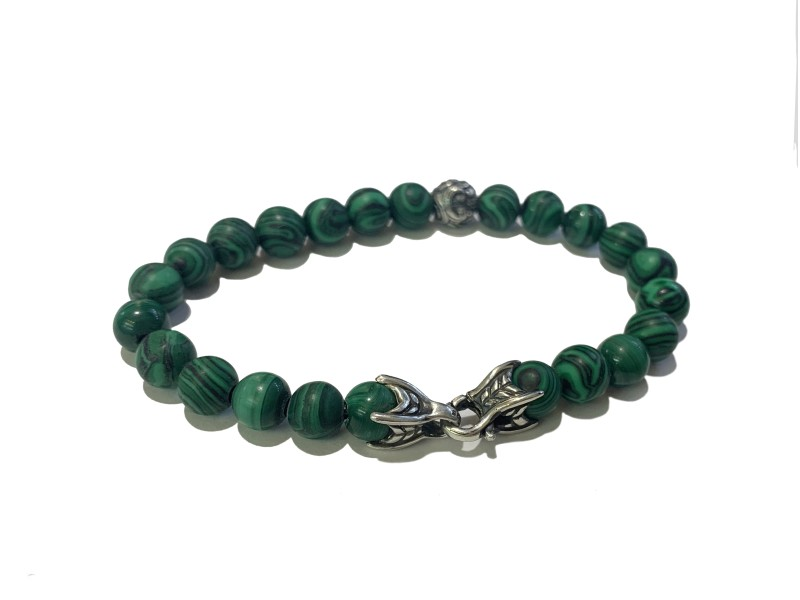 David Yurman Malachite Spiritual Bead Bracelet
