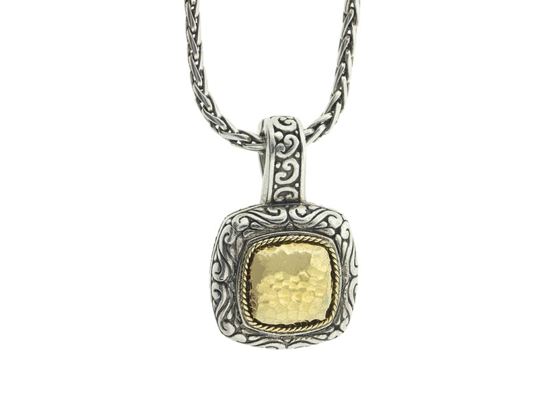 Effy Balissima Two Tone Square Pendant Necklace