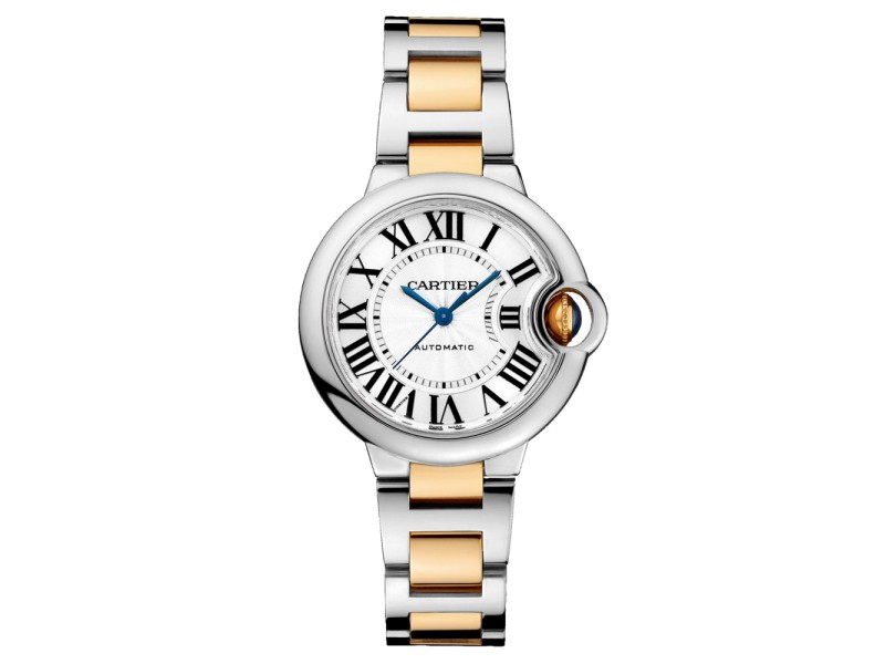 Cartier Ballon Bleu 33 18K Yellow Gold & Stainless Steel Watch on Two Tone Bracelet W2BB0002