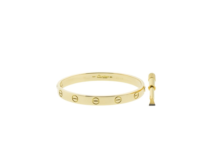Cartier Love Yellow Bracelet Gold Size 16