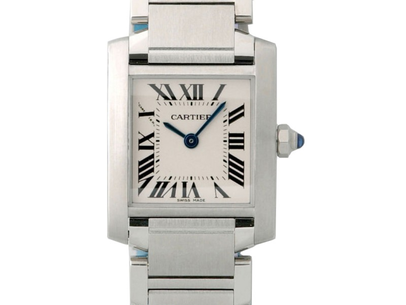 Cartier Tank Francaise Steel Silver W51008Q3 B&P Womens Watch
