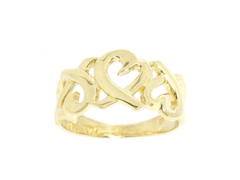 TIFFANY & Co. 18K Yellow Gold Loving Heart Ring