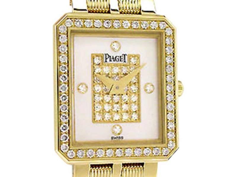 """Piaget Diamond """"Protocole"""" 18K Yellow Gold Womens Watch"""
