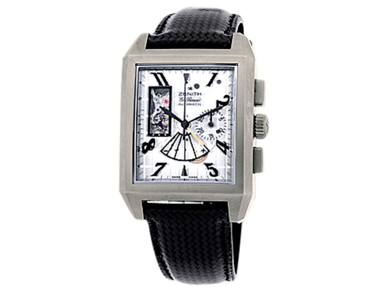 "Zenith ""Grand Port Royal Open Concept"" Titanium Mens Watch"