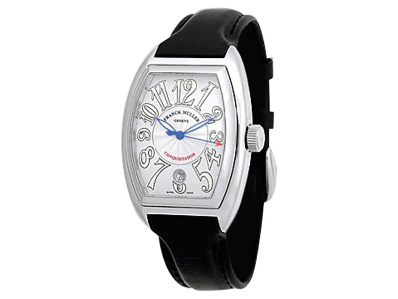 "Franck Muller ""Conquistador"" Stainless Steel Mens Strap Watch"