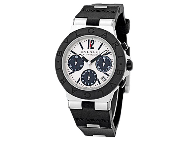 Bulgari Diagono Aluminum Chronograph Mens Watch