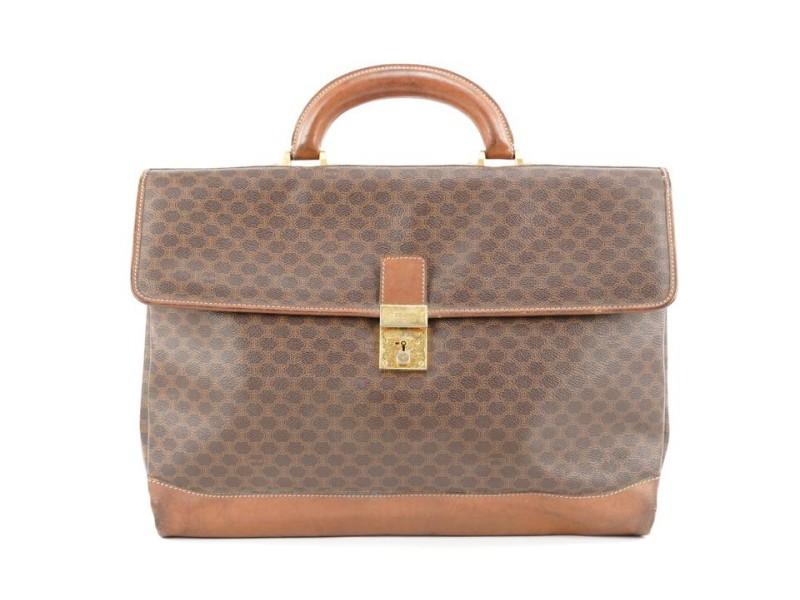 Celine Brown Monogram Macadam Attache Briefcase 352cel224