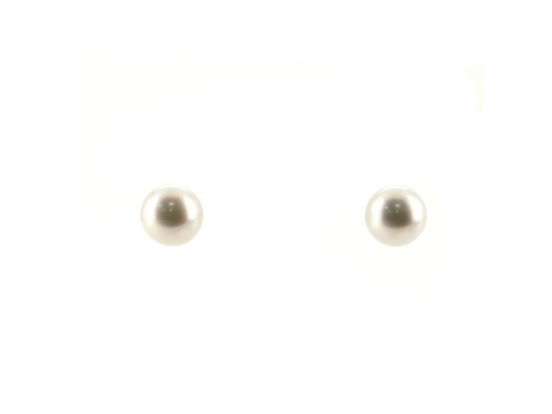 Tiffany & Co. South Sea Stud Earrings Cultured Pearls with Platinum 12mm